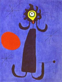 Joan Miro | Joan Miró . Woman in Front of the Sun. 1950. Oil on canvas. 65 x 50 ...