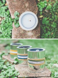 How to make citronella candles in paint cans - DIY gift idea for Father's Day