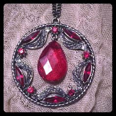 Red pendant necklace Never worn. Bought from torrid. Very cute and in very good condition. torrid Jewelry Necklaces
