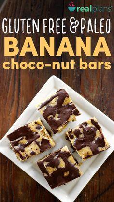 Paleo Banana Choco-Nut Bars