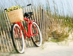 On a pretty summer day. Yup, give me a bike and a beach, and I'll be pretty happy! Most Beautiful Words, Life Is Beautiful, Summer Of Love, Summer Fun, Tricycle, Nantucket, Beach Themes, Coastal Living, Summertime