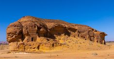 In the scrub-speckled desert north of AlUla in Saudi Arabia, rocky outcrops and giant boulders the size of buildings, beautifully carved and with classical-style pediments and columns, poke out of …