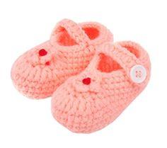 Bigood Strick Schuh Baby Unisex Strickschuh One Size süße Muster 11cm Herz Deko Pink - http://on-line-kaufen.de/bigood/bigood-strick-schuh-baby-unisex-strickschuh-one-4