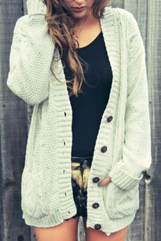 I love cozy oversized cardigans for fall.
