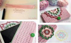 Bolsa para celular a crochet