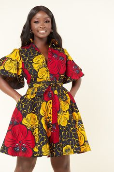 This is the casual, versatile dress of dreams! Generally loose-fitting, can be paired with some sandals or flat boots. Alternately, you can dress it up with heels and a cute satchel. Flat Boots, African Print Clothing, Grass Field, Twin Sisters, All About Eyes, African Dress, How To Feel Beautiful, Birthday Celebration, Dress Making