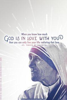 "Mother Teresa ""Radiating Love"" Mobile Wallpaper"
