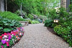 steep property transformation-Path, Drainage, Pea Gravel  Walkway and Path  Greenleaf Services Inc.  Linville, NC