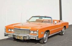 1975 Cadillac Eldorado in Mandarin orange