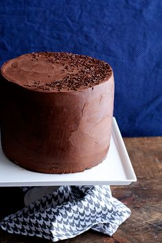 Chocolate cake with whipped ganache. I need to make this today. Because it's today, and that should be celebrated...