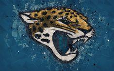 Jacksonville Jaguars Football, Jacksonville Florida, Florida Usa, Football Conference, Geometric Logo, National Football League, Blue Abstract, American Football, Abstract Backgrounds