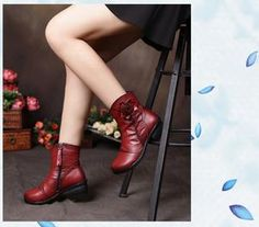 Women's Handmade Genuine Leather Ankle Boots!