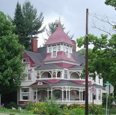 Queen Anne Style Architecture located along M-88 in Bellaire, Michigan