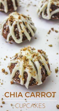 Chia Carrot Cupcakes