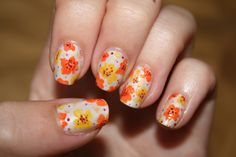 Nail Art: Floral by panphila, via Flickr