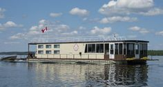 Rent a houseboat and explore the lakes in Northwest Ontario for a weekend or a week. Lac Seul Floating Lodges shown here is on Lac Seul.