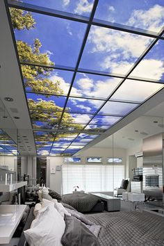 This new Sky View technology gives you the feel of an open view of the sky in any room in your house.