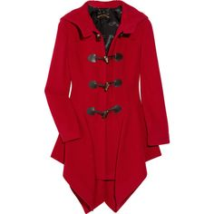Vivienne Westwood Anglomania Just-Au-Corps wool-blend duffle coat ($330) found on Polyvore