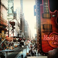 Hard Rock Cafe New York, looking south from Times Square. #newyork #hardrock