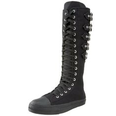 $82.99 Demonia Buckle Strap Sneaker Boots :: VampireFreaks Store :: Gothic Clothing, Cyber-goth, punk, metal, alternative, rave, freak fashions