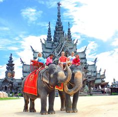 Thailand Attraction Thailand Living Heritage The Sanctury of Thailand Pattaya - The Magnificence of Heaven Recreated on Earth of Thailand. Unseen Thailand Attraction Pattaya Attraction and Thailand wood tower Thailand wood castle in Pattaya thailand - Thailand Attraction