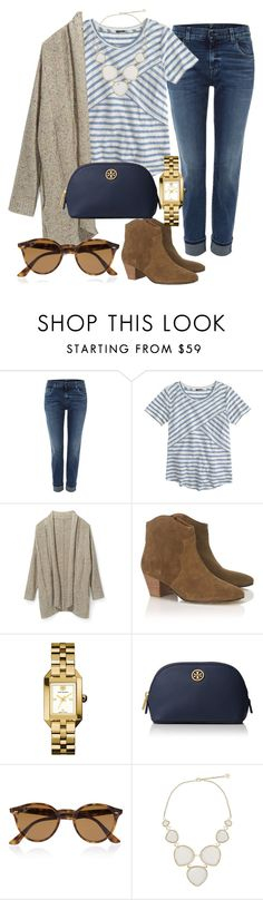 """""""colder days"""" by pretty-and-preppy ❤ liked on Polyvore featuring 7 For All Mankind, J.Crew, Rebecca Minkoff, Étoile Isabel Marant, Tory Burch, Ray-Ban and Kendra Scott"""