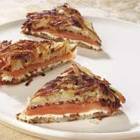 Potato Latkes with Salmon & Cream Cheese Kosher for Passover