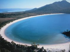 Wineglass Bay by Tourism Tasmania - number 1 beach on my Australia bucket list. Places Around The World, Oh The Places You'll Go, Places To Travel, Places To Visit, Around The Worlds, Bali Lombok, Tasmania Australia, Australia Travel, Tasmania Hobart