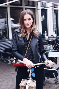 The Street Style black jacket @roressclothes closet ideas #women fashion outfit #clothing style apparel