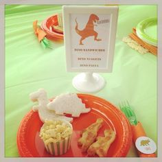Fun food at a Dinosaur birthday party!  See more party ideas at CatchMyParty.com!