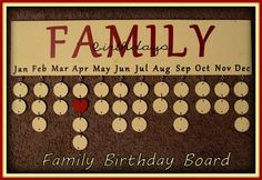 Family+Board+Ideas | Family Birthday Board Never Forget Birthdays Again by Pearlized, $55 ...