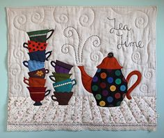 TEA Theme and Polka Dots Teapot