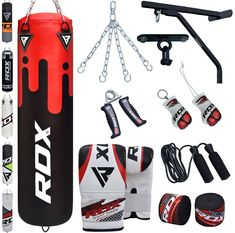 Shop the latest collection of RDX Punching Bag Filled Wall Bracket Boxing Training MMA Heavy Punch Gloves Chain Ceiling Hook Muay Thai Kickboxing Martial Arts Set from the most popular stores - all in one place. Kickboxing Gloves, Kickboxing Workout, Kickboxing Women, Muay Thai Training, Mma Training, Karate, Jiu Jitsu, Kickboxing Benefits, Fighter Workout