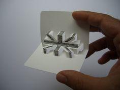 3-D business card series - union jack (front view) by elod beregszaszi, via Flickr