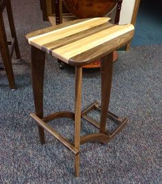 Design accommodates most types of acoustic guitars and derrières. This Stand n stool is handmade out of real wood and lined in felt padding to