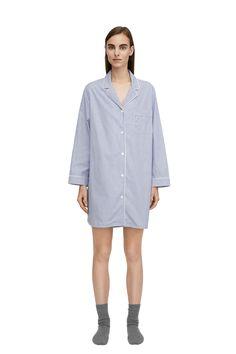 Striped Night Shirt - Blue/Stripe - Underwear & Loungewear - ARKET DK