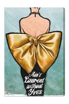 "Oliver Gal ""Aint Laurent"" Canvas Art on HauteLook"