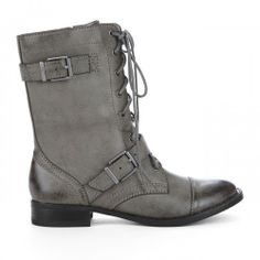 Nessie combat boot - Rhino Grey. Absolutely love the color and goes with anything!