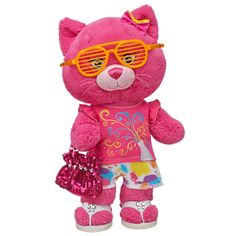 Splash of Color Razzy Berry Kitty - Build-A-Bear Workshop US $48.00