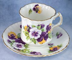 Vintage Bone China Hammersley Pansy Tea Cup Saucer Made in England | eBay