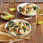 Thai Green Curry with Shrimp and Kale Recipe | MyRecipes.com,  Made this the other night and it is awesome.. I need to add more Green Curry paste...