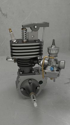 "Mini moteur 4t - Blender 3D - v2.6 render Cycles gpu Cuda. ""by S.CHEVILLON"""