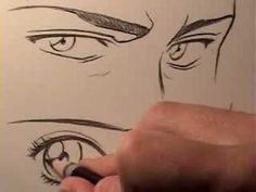 How to Draw Manga Eyes: Male Vs. Female - YouTube (And of course, of all the artists I randomly run into, it's Mark Crilley.)