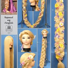 Disney Cosplay, Cosplay Rapunzel, Rapunzel Braid, Cosplay Diy, Halloween Cosplay, Rapunzel Dress, Disney Rapunzel, Tangled Rapunzel, Fantasia Disney