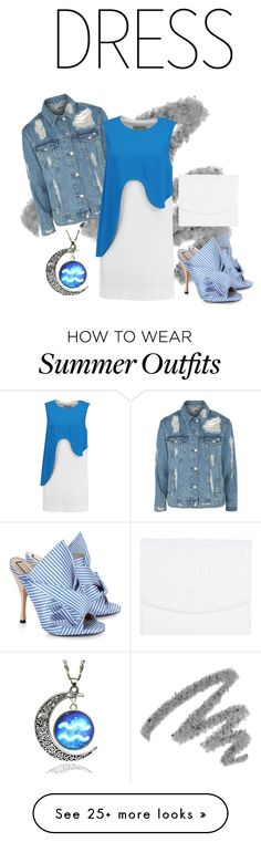 """""""Summer Blues outfit"""" by eveethejinx on Polyvore featuring Yves Saint Laurent, Topshop, Emilio Pucci, N°21 and Chanel"""
