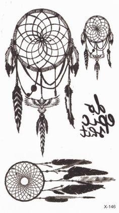 Dreamcatcher Tattoo kleine temporäre Tattoo Tattoo von MyBodiArt