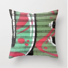 Graffiti 2 Pillow by LeonLionStudio (On Etsy) Modern Art, I Shop, Graffiti, Etsy Seller, Throw Pillows, The Originals, Gallery, Unique Jewelry, Handmade Gifts