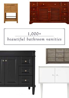 Whether you're designing a new master bath, remodeling your guest bath, or looking for a simple upgrade for your powder room, a beautiful bathroom vanity can make a big impact. Discover 1,000+ styles from Signature Hardware to find the perfect storage and style solution for your space.