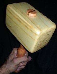 Wooden Mallet out of reclaimed scrap lumber
