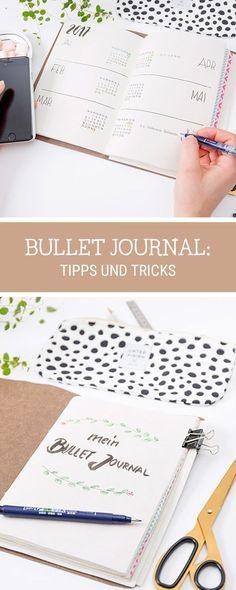 Tipps und Tricks für Dein #bulletjournal Lerne die Bullet Journaling Technik / #handlettering and #lettering ideas for your bullet journal via DaWanda.com